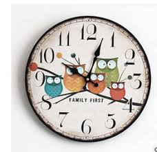 office clocks for sale. wholesale 2016 modern design owl vintage rustic shabby chic home office cafe decoration art large wall clock free shipping clocks for sale