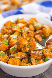 baked sweet potato recipes. Delighful Baked These Roasted Parmesan Herb Sweet Potatoes Are Seasoned With A Blend Of  Cheese Garlic On Baked Potato Recipes