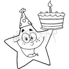 Royalty Free Rf Copyright Safe Happy Star Holding A Birthday Cake