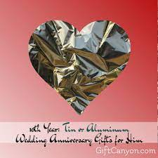 aluminum wedding anniversary gifts for
