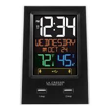 La Crosse Technology Desktop <b>Dual USB Charging</b> Clock with ...