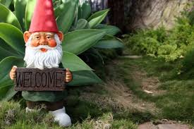 an elf and gnome fairy garden