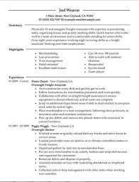 Unforgettable Part Time Overnight Freight Associates Resume Addfbcbb