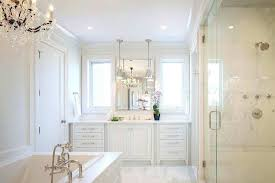 white master bathrooms inspirational all bathroom with chandelier over tub tubular chand chandelier over tub beaded candle s plastic bath in