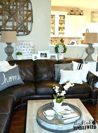 leather furniture decor living room top brown sofa