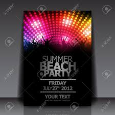 party flyers templates com summer beach party flyer template