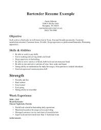Server Resume Objective Server Bartender Resume Bartender Resume Sample With Server 76