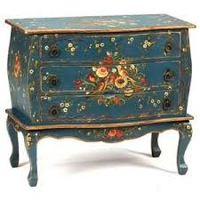 furniture motifs. painted furniture with birds hand blue bombe chest bird motifs