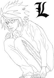 Death Note Coloring Pages L Lineart By Iviilikepink Lineart
