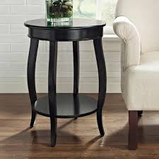 great round table seaside   Powell Seaside Black Round Table with Shelf