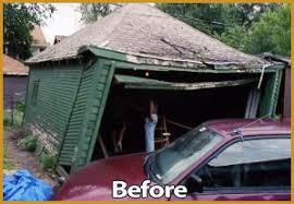 garage roof repair. garage repair before image roof r
