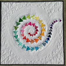 Create Dazzling Contemporary Art Quilts with Craftsy Kits! & Rainbow Spiral Mini Quilt Pattern Adamdwight.com