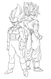 Coloriage Dragon Ball Z Sangoku Et Vegeta Ancenscp