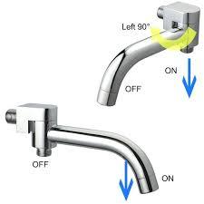2 function swivel bathtub shower spout tap faucet filler valve bath tub diverter stuck