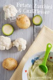 home cooked baby food ideas. baby food recipe cauliflower zucchini and potato puree from little mashies reusable pouches. for home cooked ideas