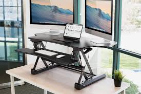 mount it large standing desk 48 inch extra wide height adjustable sit