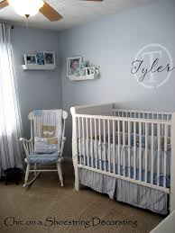 Traditional Baby Boy Rooms Ideas With Wooden Crib And Brown Wardrobe In  Country ...