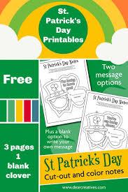 Leprechauns coloring pages, sheets and pictures. 3 St Patrick S Day Coloring Pages Leprechaun Dear Creatives