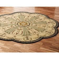 imperial palace area rug beige flower shape light brown black borders fl pattern wool carpet interior
