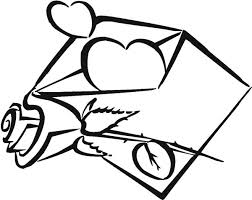 Small Picture Hearts and Roses in the Vase Coloring Page Hearts and Roses in