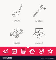 Baseball Signals Chart Ice Hockey Bowling And Baseball Icons