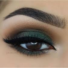 green eyeshadow prominent crease