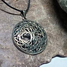 celtic tree of life amulet talisman detailed knot work pendant fine artisan cast charm