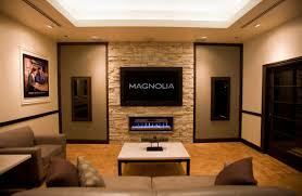 Decorations:Alluring Traditional Home Theater For Entertainment Room With  Wood Walls And Large Tv Enchanting