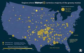 Visualizing Walmarts Domination Of The U S Grocery Market