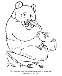 Zoo Animal Coloring Pages Panda Bear Coloring Page And Kids