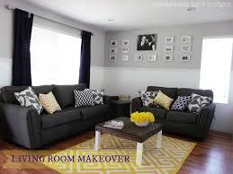 Navy Blue Yellow Gray Living Room