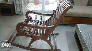 show only image wooden rocking chair