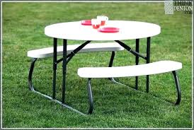 lifetime picnic table warranty round with benches kids tables home