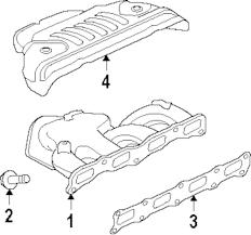 Genuine mitsubishi exhaust manifold bolt mit mf247891