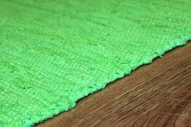 rag rugs cotton lime