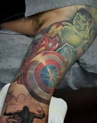 40 Mightiest Marvel Comic Tattoo Designs Marvel Tattoos