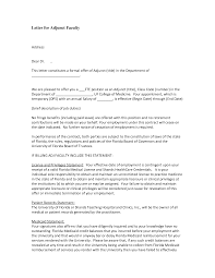 Sample Cover Letter Adjunct Faculty Position Adriangatton Com