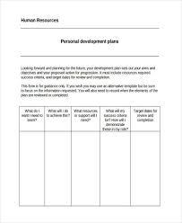 personal development plans sample 55 examples of development plans