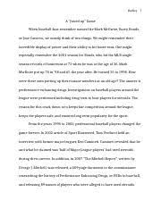 final steroid essay paper steroids in sports in today s society  10 pages research paper