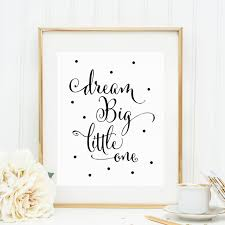 kids quotes wall art print dream big little one decor black dot nursery decor calligraphy boy on dream big little one wall art with kids quotes wall art print dream big little one decor black dot