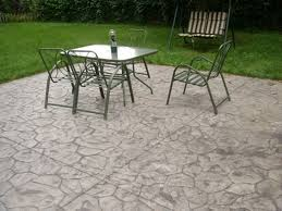 stamped concrete patio seamless stamp with stained accent border