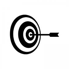 的と矢のシルエット 無料のaipng白黒シルエットイラスト