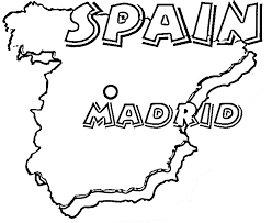 Small Picture spanish map Madrid coloring educational Pinterest Madrid