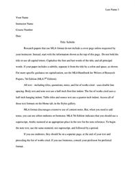 Mla Format Templates Mla Style Paper
