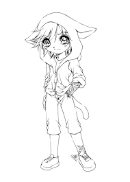 Cute Anime Girl Anthro Coloring Pages For Girls Coloring Pages
