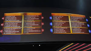UEFA Europa League group stage draw ...