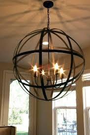 hanging candle chandelier vintage