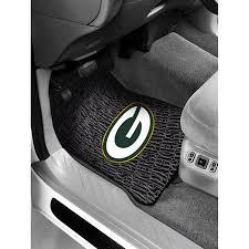 green car floor mats. NFL - Green Bay Packers Floor Mats Set Of 2 Green Car Floor Mats