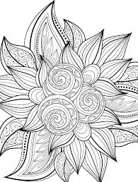 Coloring Pages Free Printable Flower Coloring Pages Simple Page