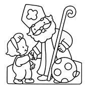 Kleurplaat Sinterklaas En Zwarte Piet 2823
